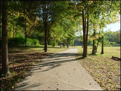 Walking trail in Lake Forest